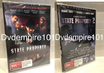 State Property 1 & 2 DVD set Jay-Z Beanie Sigel New Sealed Australia All Regions