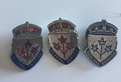 Three WW2 Canada General Service Pins