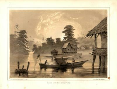 Commodore Perry Japan Expedition Print - River Jurong, Singapore  ---  Prcx
