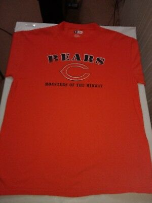 CHICAGO BEARS VINTAGE Monsters Of The Midwest Gray T-Shirt Large ... 083b26581