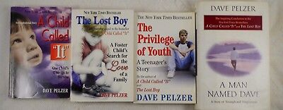 4-Book Lot Dave Pelzer: Child Called It, Lost Boy, Privilege of Youth, Man ....