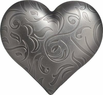 2018 $5 Palau Silver Heart Antique Finish 1oz 999 Silver Coin