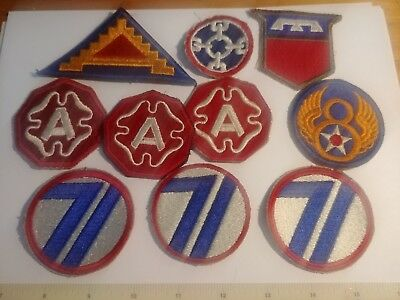 Us Military Ww2 To Korea Patch Lot Division Army Air Corps Logistics