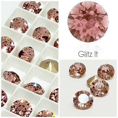 Swarovski Antique Pink Chaton Crystals Rhinestones (Pointed Back) Nails Jewelry