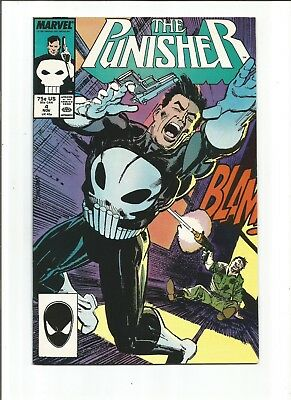 PUNISHER #4 (1987) 1st Appearance of Microchip VF+ Or Better
