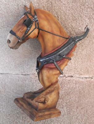 CLYDESDALE Horse Head Bust