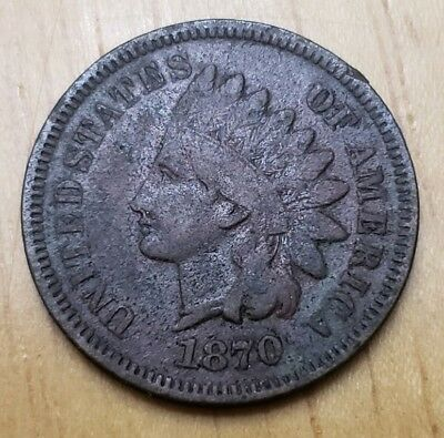1870 Indian Head Cent (Low Opening Bid)