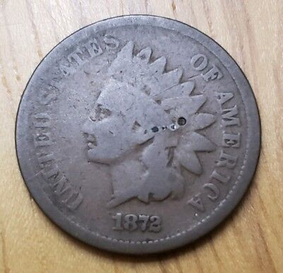 1872 Indian Head Cent (Low Opening Bid)