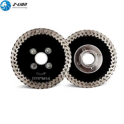 3'' Diamond Circular Saw Blade Cutting Disc M14 & Flange Granite Concrete Stone