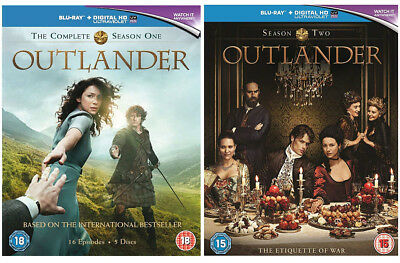 OUTLANDER Seasons 1 & 2 [Blu-ray Box Set] Complete Full One and Two Collection