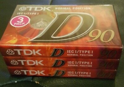 TDK 3pack Cassettes Factory Sealed