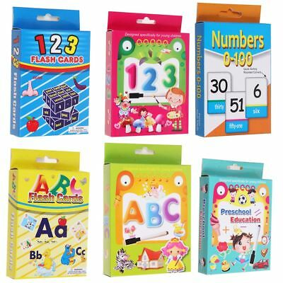 Kids Flash Cards Alphabet Early Learning First Words ABC Numbers Colors Shape