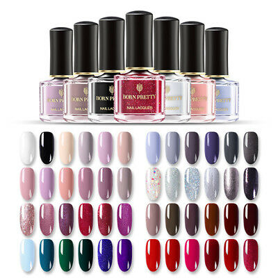 85 Colors BORN PRETTY Nail Polish Peel Off Varnish Black White  Daily Design