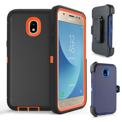 for Samsung Galaxy J3/J7 2018 Case Hybrid Armor Cover (Belt Clip fit Otterbox)