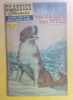 1952 CALL OF THE WILD GOLDEN AGE classics illustrated #91 BY JACK LONDON