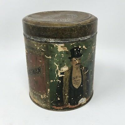 Vintage Hoffman House Cigar Tin Container State Of Ohio Sprague Warner & Co ****