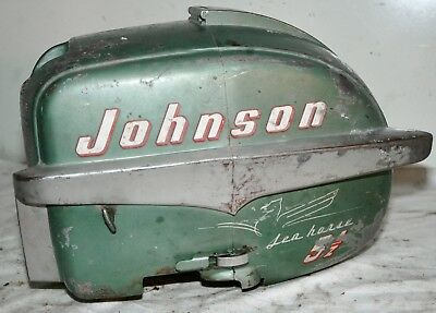 1954 Johnson Seahorse 5.5 HP ** COWL ENGINE COVER ** Outboard Motor Part SHROUD
