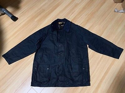 Mens BARBOUR Beaufort Waxed Jacket Navy Size 42(XL)