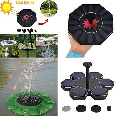 FT- Outdoor Solar Power Water Floating Fountain Pump Pool Pond Garden Submersibl
