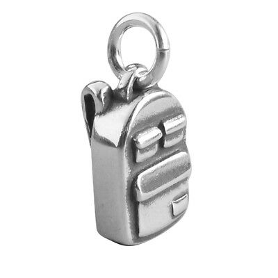 Backpack Charm Sterling Silver .925 Traditional Rucksack Travel Back Pack