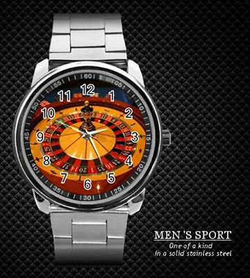 Casino Lucky Roulette Steel Watch New 2019 (Rare)