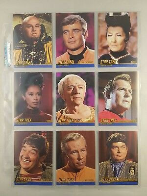 Star Trek REMASTERED TOS, TRIBUTE Card Set Complete T19 to T36, 1:6