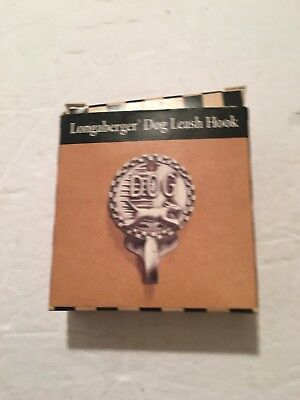 Longaberger Mulligan Pewter Dog Leash Hook NIB!