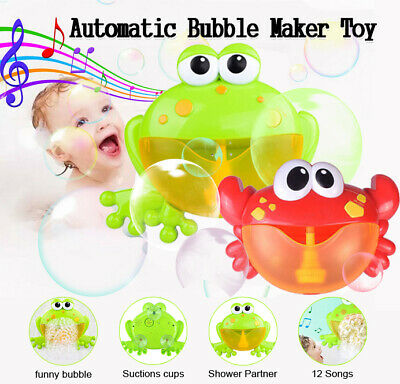 Musical Crab Bubble Tub Frog Automated Spout Machine Blower Maker Bath Kids Toy