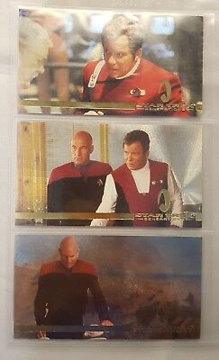 STAR TREK GENERATIONS CINEMA COLLECTION SPECTRA ETCH Set S1 to S3 Odds 1:36