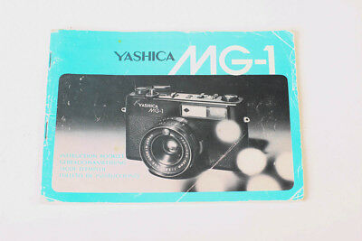 Vintage Yashica MG1 Collectible Camera Manual for Rangefinder 35mm