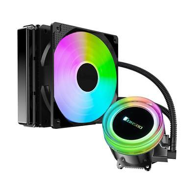 TW2-120 CPU Water Cooling Fan Radiator Cold Head Color Auto Change for AMD/Intel