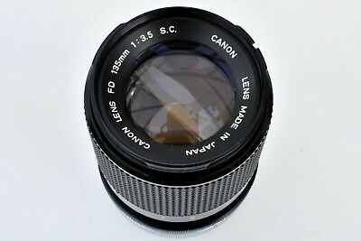 Canon 135mm f/3.5 FD SC super shp lens. Ideal for Sony A7. Exc++++ see tst pics