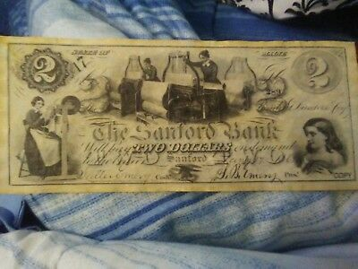 Antique Copy Of Bank Note Usa 2.00 bill