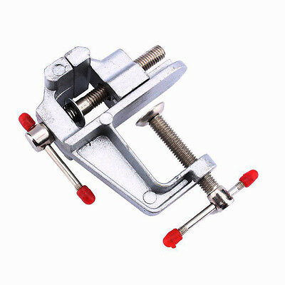 30mm Aluminum Alloy Small Jewelry Hobby Clamp On Table Bench Vise DIY Craft Tool