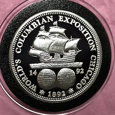 1892 Columbian Expedition 1 Troy Oz .999 Fine Silver Round Proof Coin Medal 999