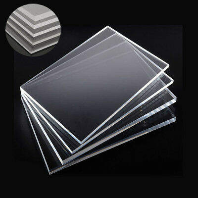 1/2/4x Clear Acrylic Sheet Laser Cut Perspex Plastic Plate Thick 2/4/5/6/8/10mm