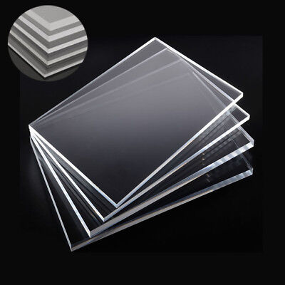 1/2/4x Clear Acrylic Sheet Laser Cut Plastic Plate Glass Thick 2/4/5/6/8/10mm