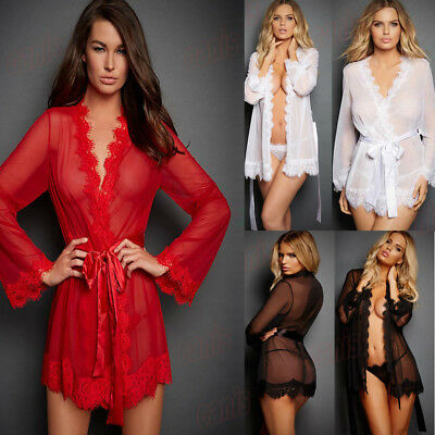 US Woman Lingerie Lace Dress Babydoll Underwear Night Sleepwear Plus Size S-2XL