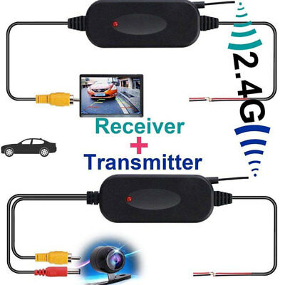 12V Wireless Rear View Video Transmitter Receiver For Car Truck Reversing Camera