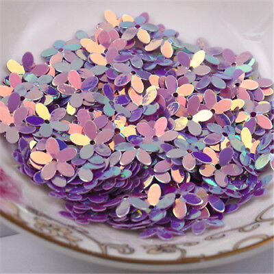 New Flower Colorful Sequins Golden Tone Paillette DIY Sewing for Dress 10mm