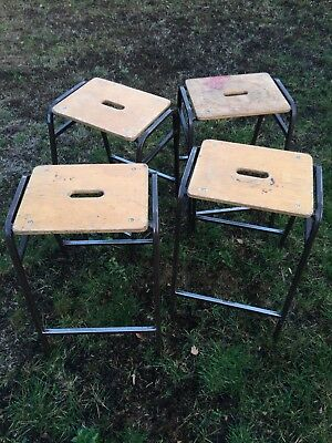 School Lab Style Stools X 1, 4 Available