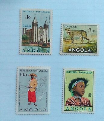 4 Angola stamps from old album. See scans
