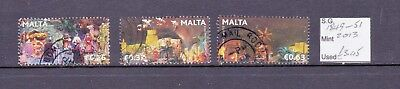 Malta Sg 1849/51, 2013 Christmas Set Fine Used