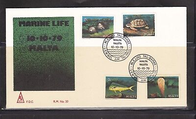 Malta 1979 Marine Life set on First Day Cover