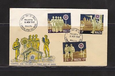 Malta 1969 Christmas First Day Cover Valletta Post Mark