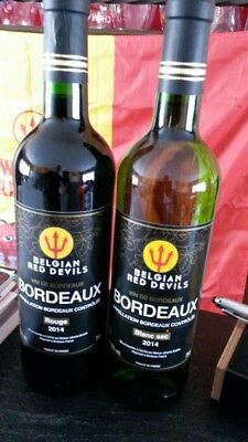 6 bt BORDEAUX DIABLE ROUGE BELGIAN RED DEVILS ..