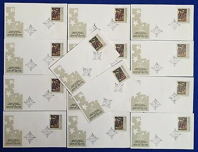 1984 Malta 14 DIFFERENT VILLAGE/TOWN Special Hand Cancels Christmas #1