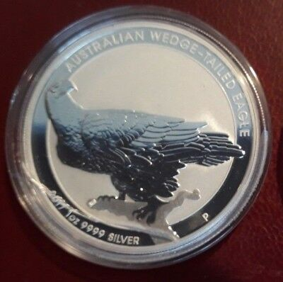 2017 1 Oz AUSTRALIAN WEDGED-TAILED EAGLE .999 Pure Silver coin