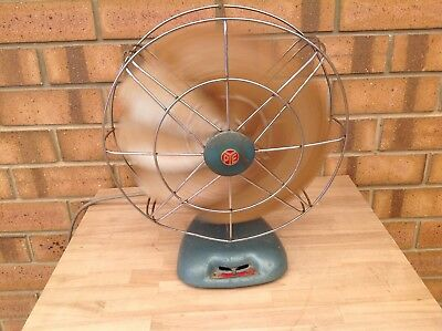Vintage/retro Pye 2 Speed Metal Blade Fan With Hammertone  Finnish , Collectable