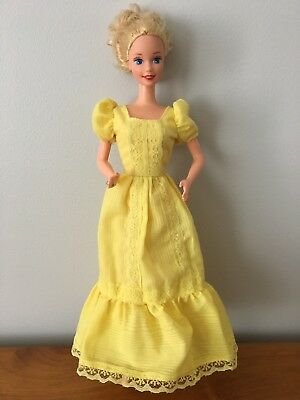 Barbie Doll Vintage Yellow Dress For Magic Curl Doll